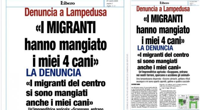"""LAMPEDUSA: """"I MIGRANTI HANNO MANGIATO I MIEI 4 CANI"""""""