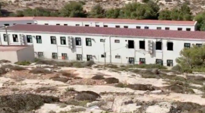 Lampedusa, anche l'aria condizionata nel villaggio che ospita 1.000 clandestini