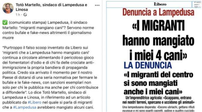 """Lampedusa, il sindaco difende i migranti: """"Non mangiano i cani"""""""