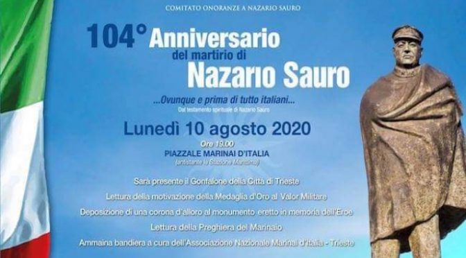 PATRIOTA NAZARIO SAURO: NON DIMENTICHIAMO