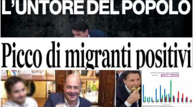 """Salvini: """"Italiani in acqua con la mascherina e fanno sbarcare 15mila balordi che ci portano il virus"""" – VIDEO"""