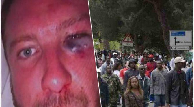 """Immigrati gli spaccano la faccia: """"Fanno quello che vogliono"""" – VIDEO"""