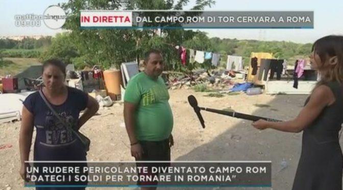 Campo rom a Roma: gli occupanti chiedono soldi per tornare in Romania – VIDEO