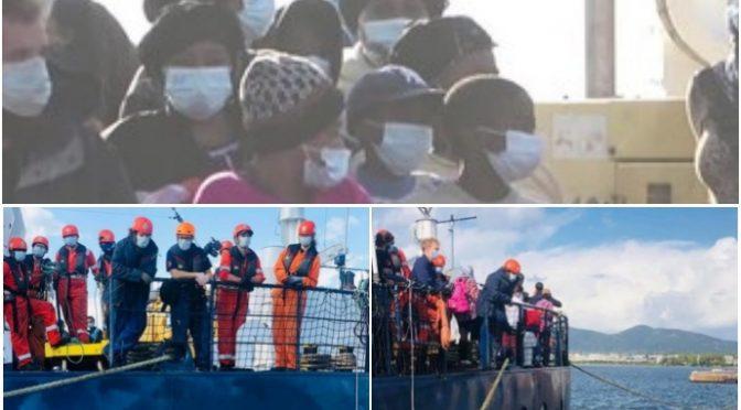 Sono positivi i clandestini scaricati in Sardegna dall'ONG tedesca: è allarme contagio