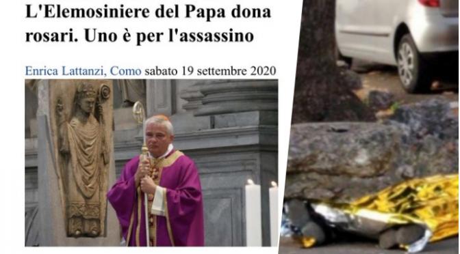 """Bergoglio regala rosario all'assassino islamico di don Malgesini: """"E' stato sfortunato"""""""