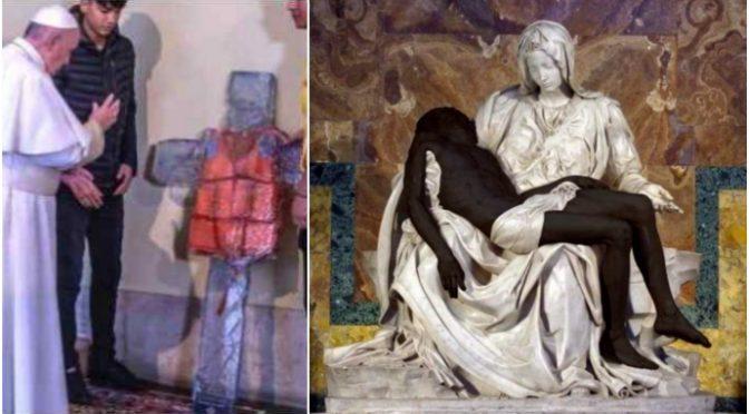 Vaticano imbratta la Pietà di Michelangelo: Gesù diventa nero, ondata di sdegno