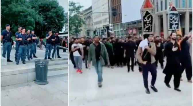 Islamici marciano su Milano: si prendono la città, poliziotti costretti a guardare – VIDEO CHOC