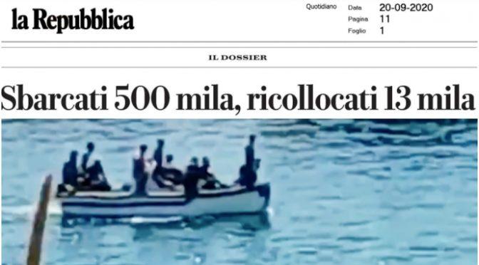 SBARCATI 500 MILA, RICOLLOCATI 13 MILA: SONO RIMASTI TUTTI IN ITALIA