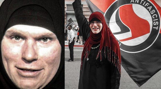 Antifa transgender di religione islamica arrestato durante violenze