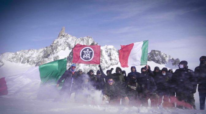 CasaPound rivendica Monte Bianco per l'Italia: il VIDEO del blitz