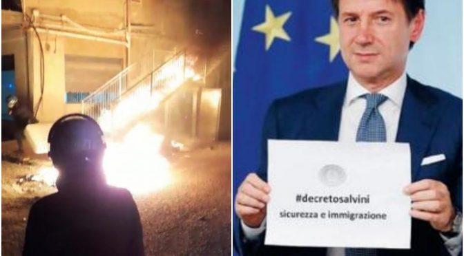 """La rivolta dei migranti: """"Mancano i biscotti e loro incendiano il centro accoglienza"""""""