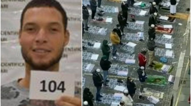 Islamici pregano a Roma contro la Francia dopo la strage di Nizza – VIDEO CHOC