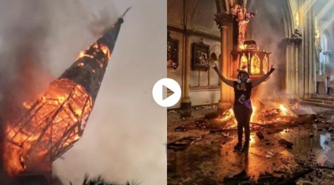 Sinistra come l'islam: bruciate due chiese in Cile – VIDEO