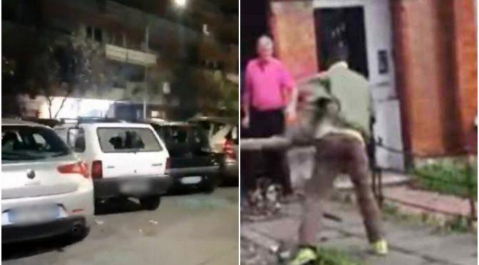 Immigrato sfascia decine di auto a sprangate a Roma – VIDEO