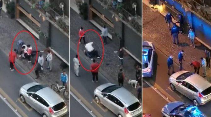 Tunisino sfascia vetrina, commercianti cinesi lo pestano – VIDEO
