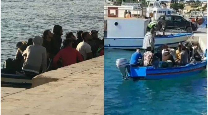 Raffica di sbarchi a Lampedusa: nessun coprifuoco per i clandestini – VIDEO