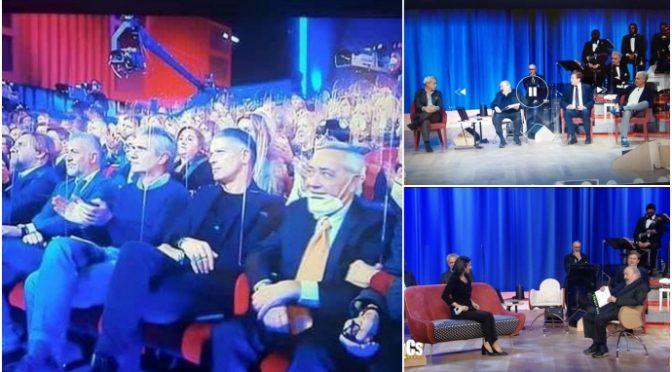 I teatri di sinistra sono rimasti aperti: Costanzo con pubblico e ministri senza mascherina – FOTO