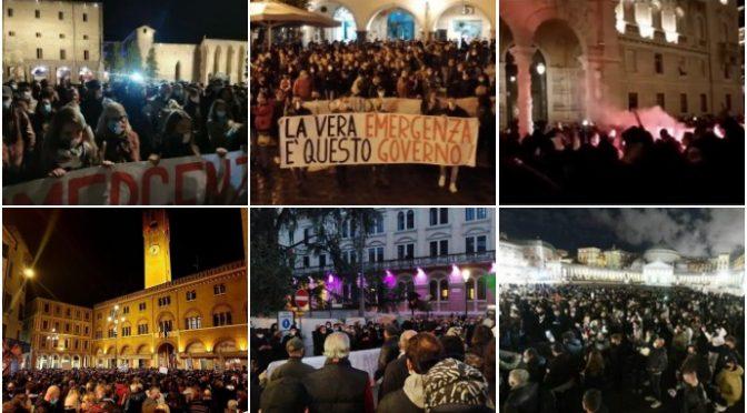 LE PIAZZE ITALIANE CONTRO IL GOVERNO CHE I MEDIA VI NASCONDONO – VIDEO – FOTO