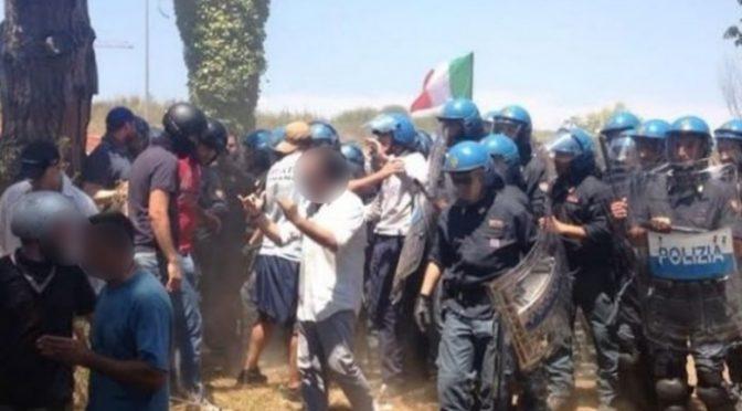 Immigrati in quarantena attaccano Polizia: sassaiola, agenti feriti