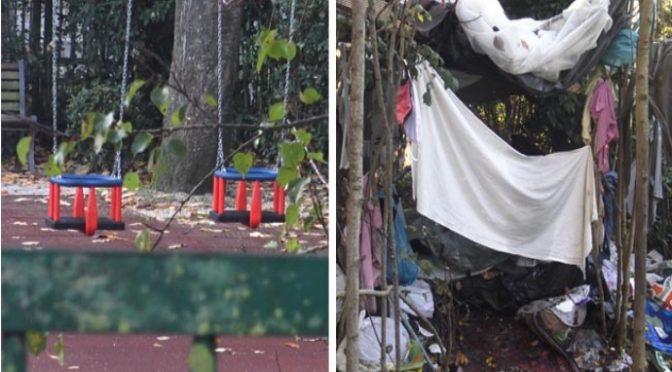 Rom cacciano bambini dal parco: ora è un accampamento – VIDEO