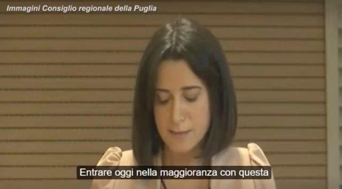 """Grillina si vergogna dopo governo col PD anche in Puglia: """"Potessi, restituirei i voti"""" – VIDEO"""