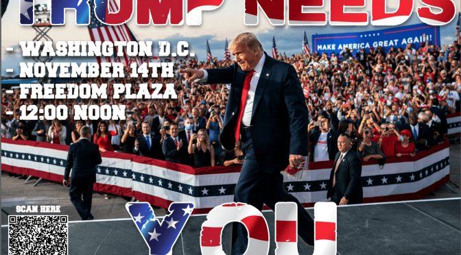 Domani Trump marcia su Washington per riprendersi la Casa Bianca
