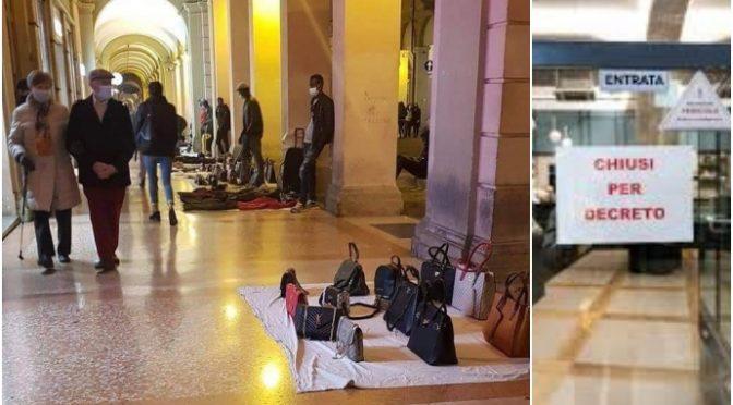Negozi italiani chiusi in zona rossa: quelli abusivi degli immigrati NO – VIDEO