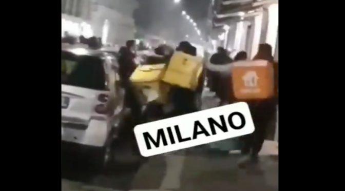 Milano, rissa tra rider africani mentre italiani chiusi in casa – VIDEO