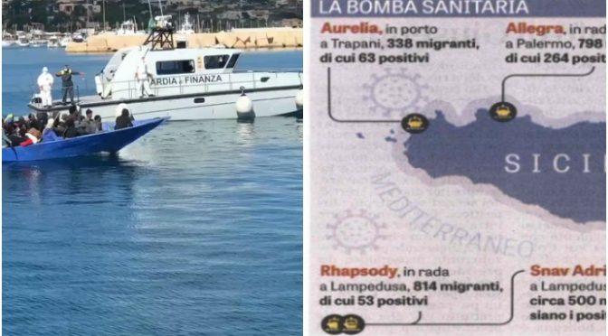 Continuano a scaricare scrocconi a Lampedusa: è il governo dell'invasione