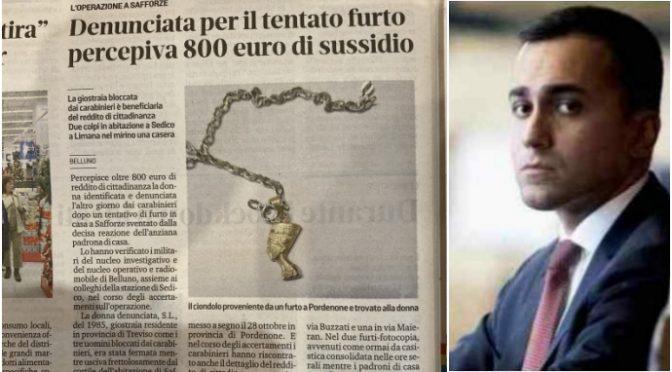 Giostraia ruba per arrotondare il sussidio di 800 euro
