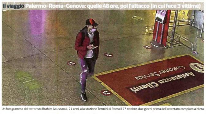 Il terrorista di Nizza libero di girare mezza Italia da clandestino dopo lo sbarco – FOTO
