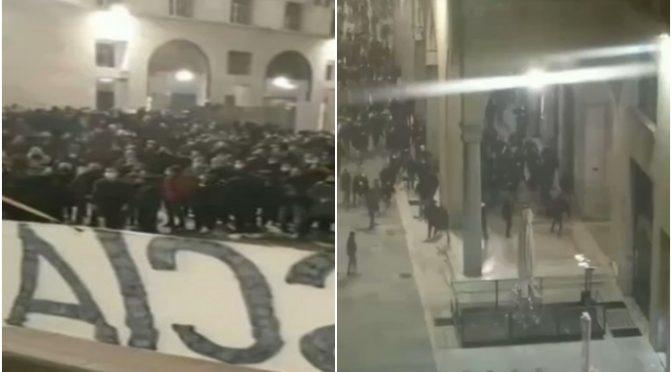 """BRESCIA: IMMIGRATI LANCIANO BOMBE CARTA CONTRO MANIFESTANTI ITALIANI – VIDEO"""""""