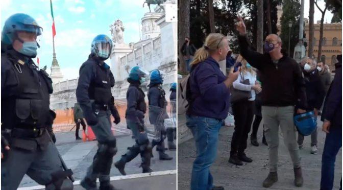 """Prove di dittatura a Roma: """"Non potete manifestare"""" – VIDEO"""