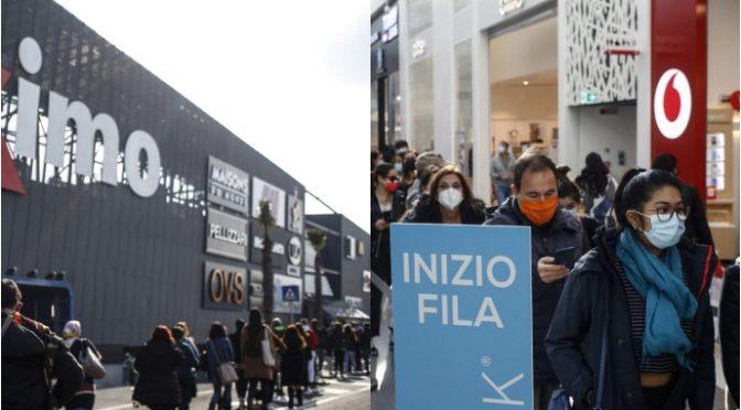 Roma, migliaia in fila per l'apertura del nuovo centro commerciale Maximo