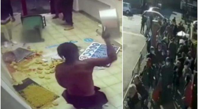 Italiani in fila alla mensa dei poveri per il cibo mentre immigrati lo gettano via – VIDEO