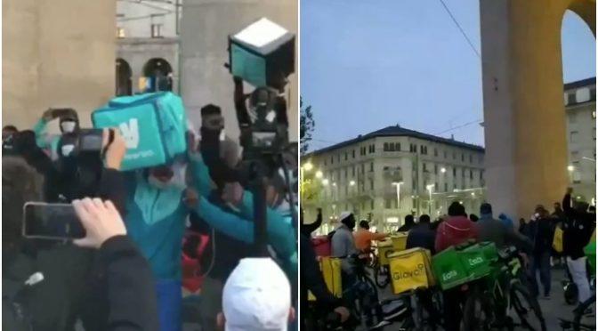 Africani marciano su Milano scortati dalla polizia di Lamorgese – VIDEO