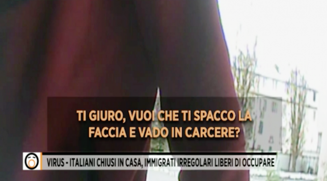 """Italiani chiusi in casa da Conte e gli immigrati si prendono l'Italia: """"Andate via"""" – VIDEO"""