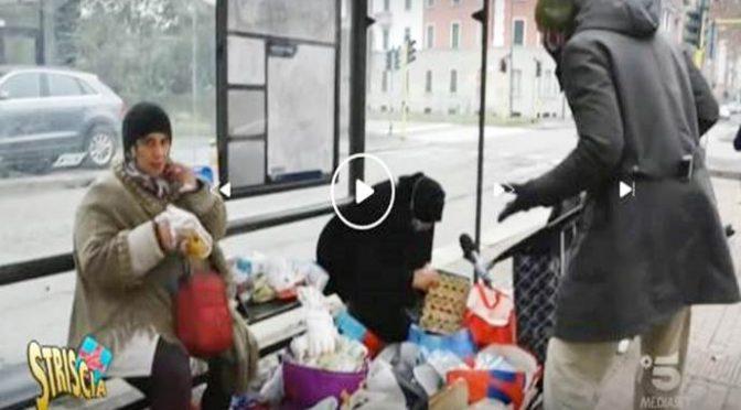 Immigrati rivendono il cibo preso in beneficenza agli italiani affamati: buonisti li difendono – VIDEO