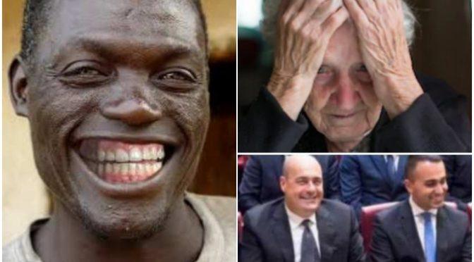 Africano scaraventa a terra pensionato italiano perché non lo mantiene