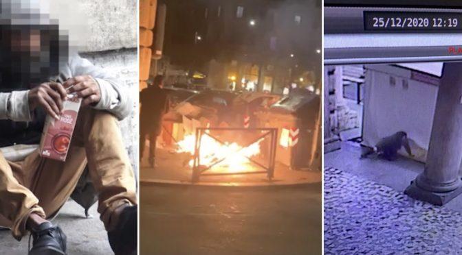 IMMIGRATO DA' FUOCO AL QUARTIERE E SFASCIA AUTO: VIETATO ARRESTARLO – VIDEO