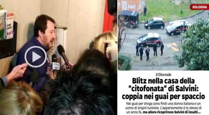 Citofonata Salvini, procura Bologna gli dà ragione: è una casa di spacciatori, famiglia spacciatori si oppone ad archiviazione
