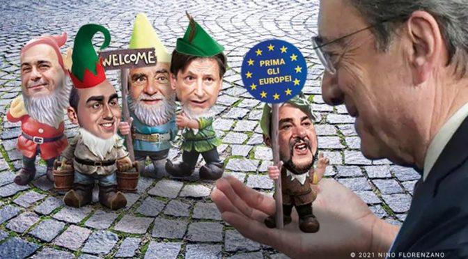 """Draghi come Boldrini: """"Migrazione inevitabile, non servono i muri"""""""