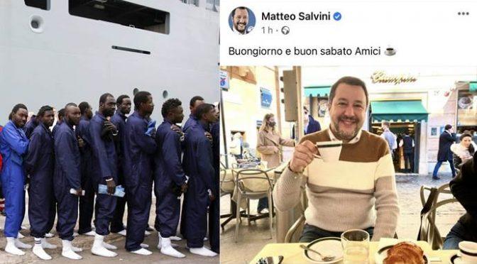 Salvini continua ad ignorare gli sbarchi