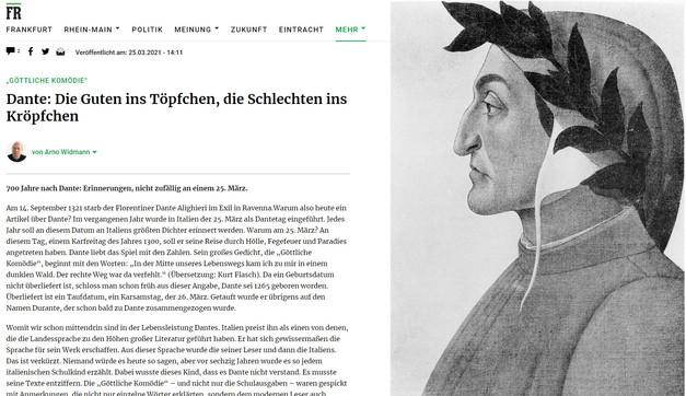 """Dante, Germania contro il Sommo Poeta: """"Ha copiato da un islamico"""""""