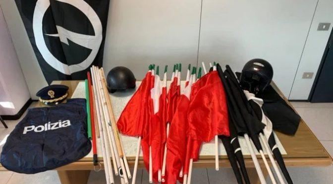 Digos sequestra bandiere italiane in sede CasaPound
