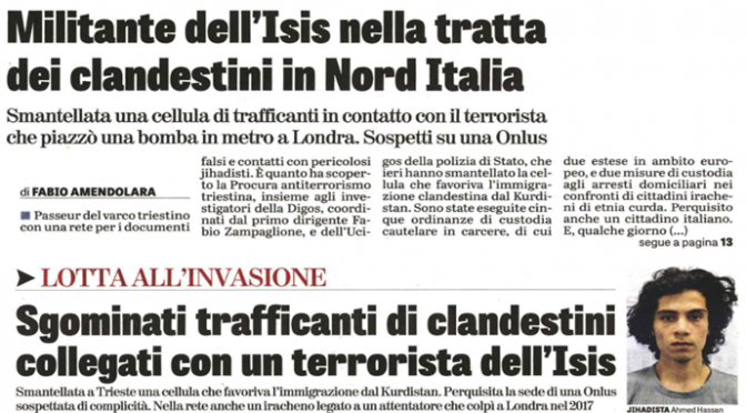 Inizia: 150 clandestini pakistani irrompono a Trieste