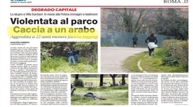 ARABO STUPRA RAGAZZA A ROMA, DUE VIOLENZE IN POCHE ORE: SONO FUORI CONTROLLO