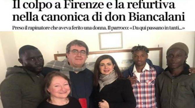 """Il suo ospite pesta e rapina donna, don Biancalani: """"Succede, tutta colpa di Salvini"""""""