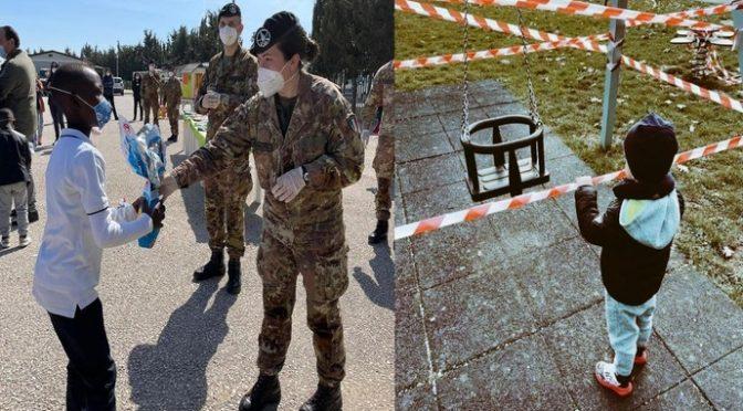 """Esercito regala uova di pasqua e giocattoli ai figli dei clandestini: """"Rappresentiamo ponti e non confini"""""""