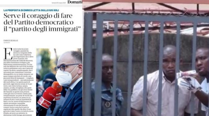 """Il piano demografico di Letta: """"Ius Soli necessario per sostituire italiani"""""""